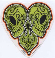GREEN SKULLS vinyl stickers by talented lowbrow artist Jeral Tidwell.