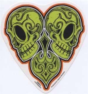 GREEN SKULLS vinyl stickers by talented lowbrow artist Jeral Tidwell.