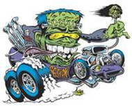 "66 Sick - Hot Rod sticker/decal from Dirty Donny - 3"" High x 4"" Long"