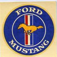 "OLD FORD MUSTANG CIRCLE DECAL 60's Mustang....Cool original vintage water slide decal from days gone by. Own this decal, and slap it on your toolbox or??? Installation instructions are on the back of the decal. Measures 3"" Diameter"