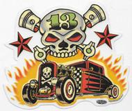 Vince Ray Skull n Rodz Sticker