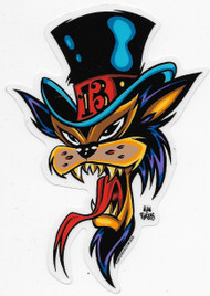 Top Hat Cat Sticker by Forbes