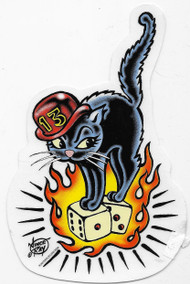Vince Ray 13 Cat Sticker