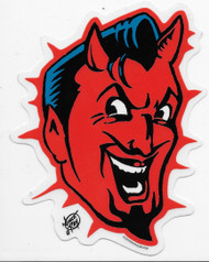 Vince Ray Devil Head Sticker