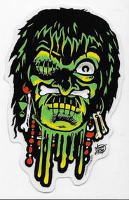 Vince Ray Voodoo Skull Sticker