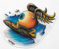 Von Franco Surfing Eyeball Sticker