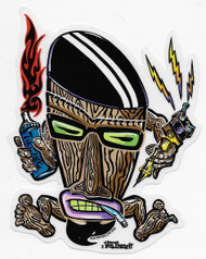 Tiki Beatnik sticker by Von Franco