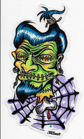 Shrunken Head sticker by Von Franco