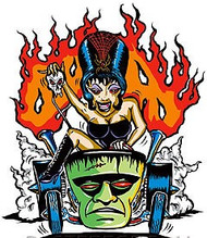 Hot Rod Spider Girl sticker by Von Franco