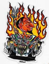 Hot Rod Devil sticker by Von Franco