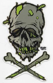 Pigors Zombie Skull sticker