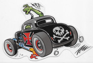 Pizz Hot Rod sticker