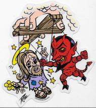 PIZZ Gods Puppets Sticker