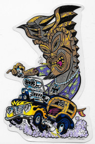 Pizz Hot Rod Tiki Sticker