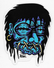 Kruse Blue Shrunken Head sticker