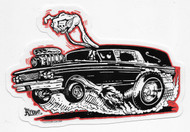Kruse Hot Rod Hearse Sticker