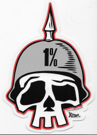 Kruse One Percent Skull Sticker