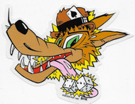 Kozik Lucky Wolf Sticker