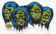 Dirty Donny Shrunken Heads Sticker