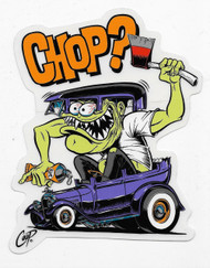 COOP Chop? sticker