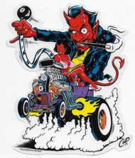 Coop Devil in Hot rod sticker