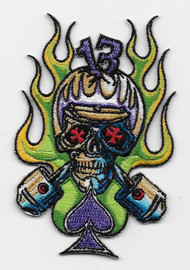 Von Franco Cycle Skull Patch