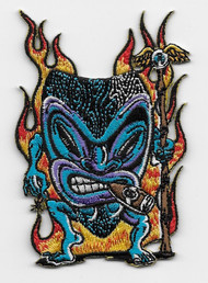 Von Franco Blue Tiki Warrior patch