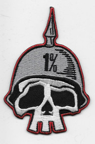 Kruse 1% German Helmet Skull patch