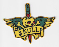 Skull and dagger patch
