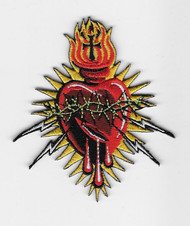 Marco Almera Electric Heart embroidered patch