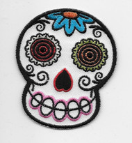 Chico Von Spoon White Sugar Skull Patch