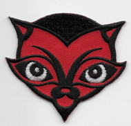 Chico Von Spoon Frank Red Devil Cat Patch