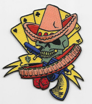 Illicit Poker Skull Cowboy Patch