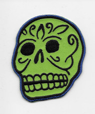 Kruse Green Sugar Style Skull Patch