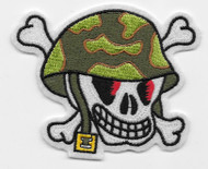 GI Helmet Skull Patch