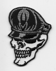 German Helmet Skull Patch