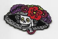 Catrina Skull Day of the Dead Skull Patch