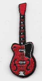 Small Red Electric Guitar Patch