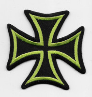 Green Iron Cross Patch