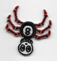 Small 8-ball Spider Patch