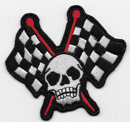 Crossed Flags and Skull Patch