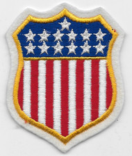 Patriotic Stars and Stripes Shield Patch
