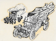 Surf's Up Jalopy Vintage Roth style Water Decal