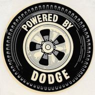 Vintage Powered by Doodge Water Slide Decal