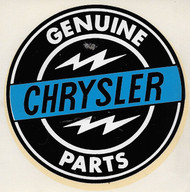 Vintage Genuine Chrysler Parts Water Slide Decal