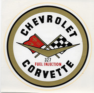 Large 327 Fuel Injection Corvette Water Decal