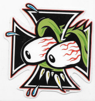 Bloodshot Eyeballs EYES CROSSED Kozik Sticker