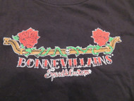 Woman's Bonnevillain Rose and Axle Woman's Tee