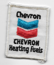 Vintage Chevron Heating Fuels Patch