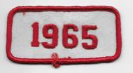 Vintage style 1965 patch
